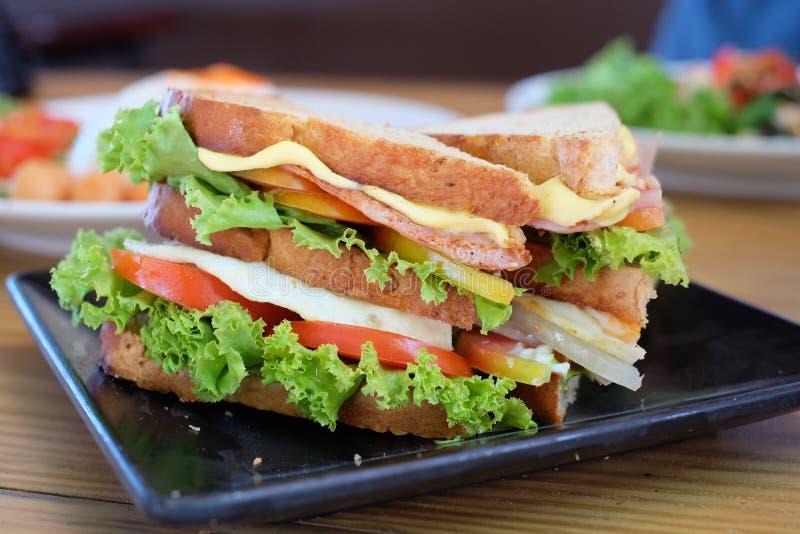 Υγιής έτοιμος σάντουιτς να φάει στοκ εικόνες