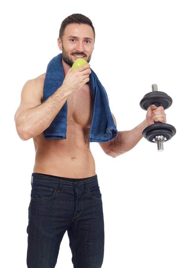 υγιής αθλητικός τύπος στοκ εικόνες