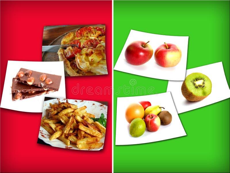 υγιής ανθυγειινός τροφίμ στοκ εικόνα