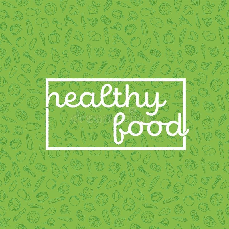 Υγιής αφίσα τροφίμων ελεύθερη απεικόνιση δικαιώματος