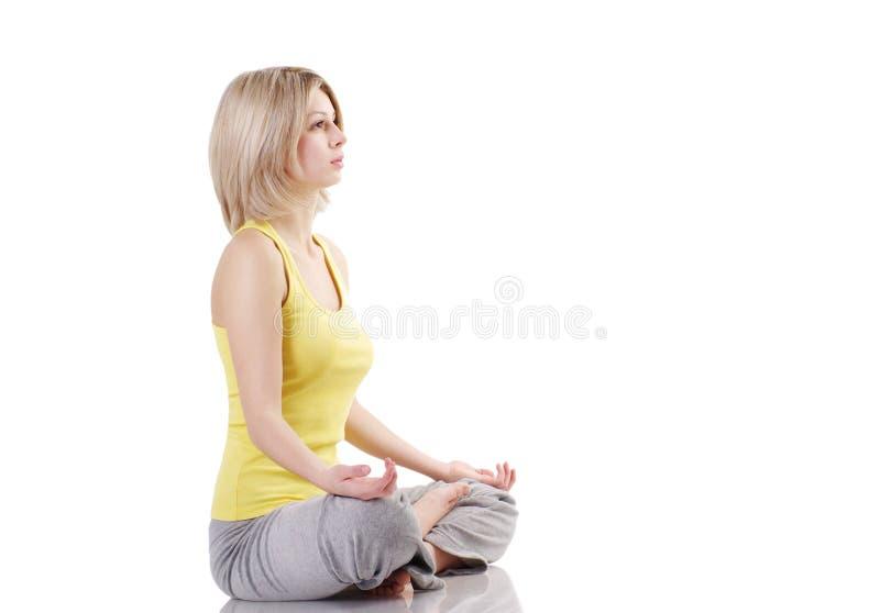 υγιής γιόγκα άσκησης πορ&ta στοκ φωτογραφία με δικαίωμα ελεύθερης χρήσης