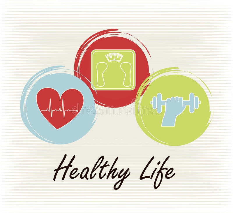 Υγιής ζωή διανυσματική απεικόνιση