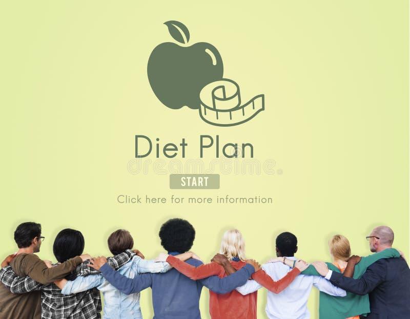 Υγιής διατροφή σχεδίων διατροφής που τρώει την έννοια επιλογής τροφίμων στοκ εικόνα