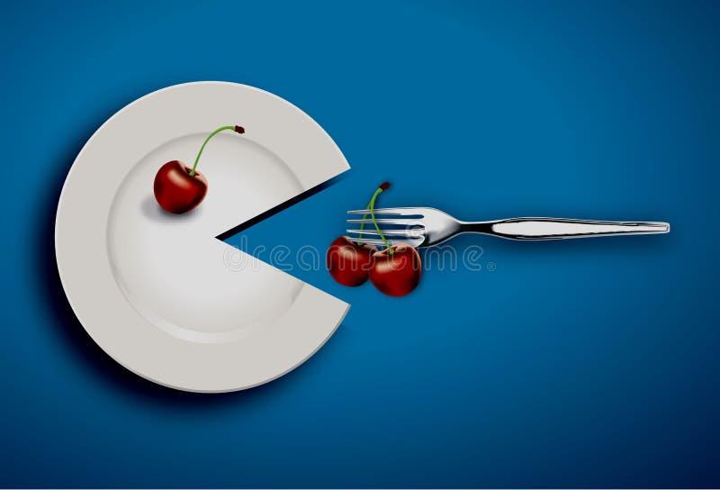 υγιής καρδιά τροφίμων διανυσματική απεικόνιση