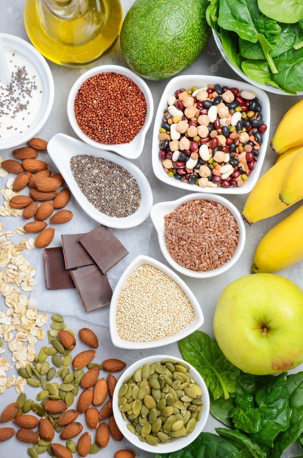 Υγιής να κάνει δίαιτα διατροφής τροφίμων έννοια Η τοπ άποψη, επίπεδη βάζει στοκ φωτογραφία με δικαίωμα ελεύθερης χρήσης