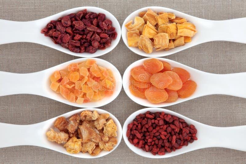 Υγιής ξηρός - φρούτα στοκ εικόνες