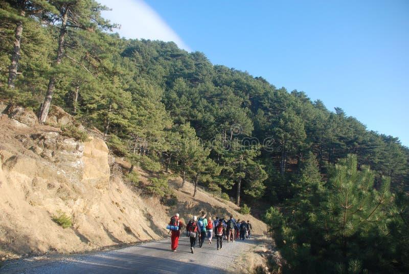 υγιής ορειβασία ζωής στοκ εικόνα με δικαίωμα ελεύθερης χρήσης