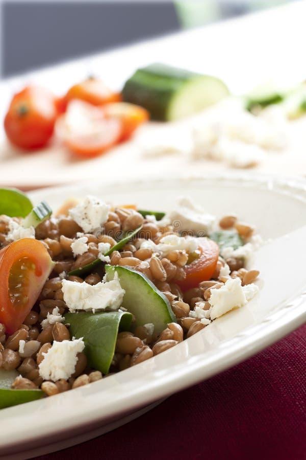 υγιής σίτος σαλάτας μούρ&ome στοκ φωτογραφία με δικαίωμα ελεύθερης χρήσης