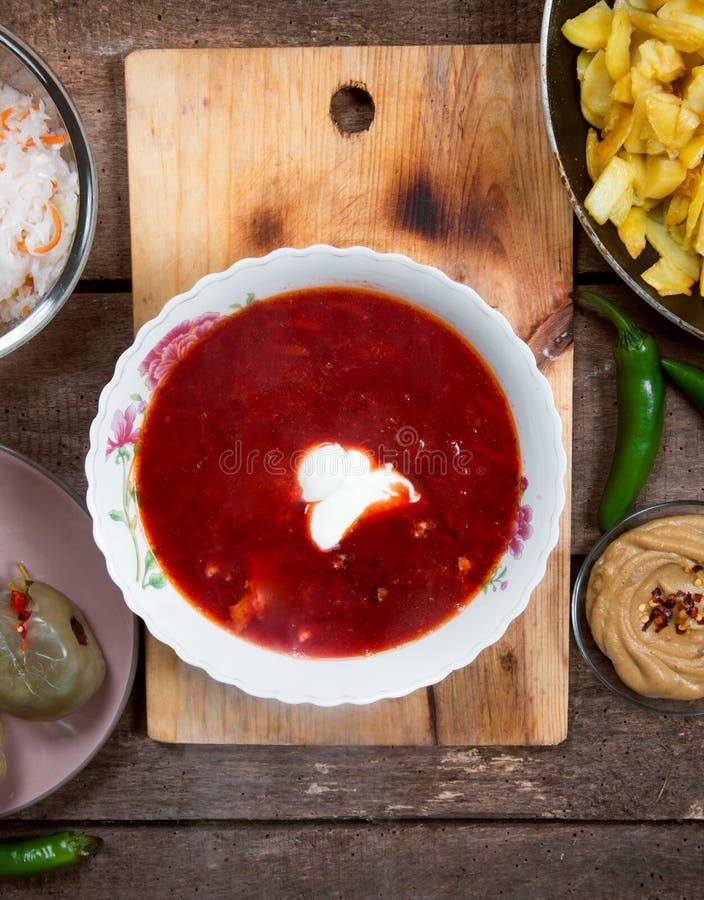 Υγιής σούπα παντζαριών στοκ φωτογραφία με δικαίωμα ελεύθερης χρήσης