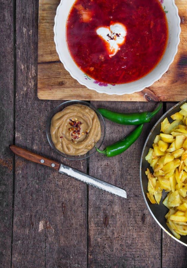 Υγιής σούπα παντζαριών στοκ εικόνες με δικαίωμα ελεύθερης χρήσης