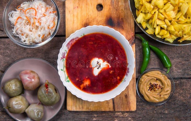 Υγιής σούπα παντζαριών στοκ φωτογραφίες με δικαίωμα ελεύθερης χρήσης