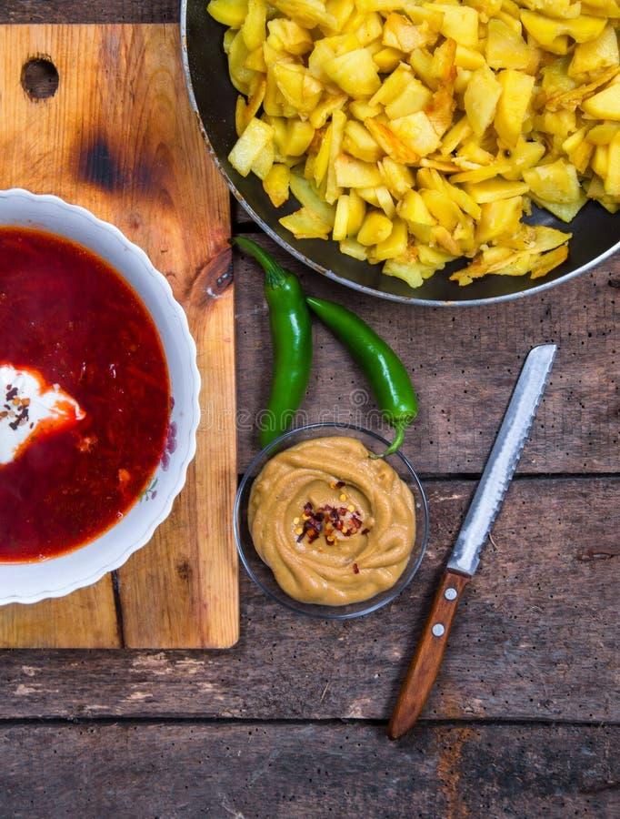 Υγιής σούπα παντζαριών στοκ εικόνες