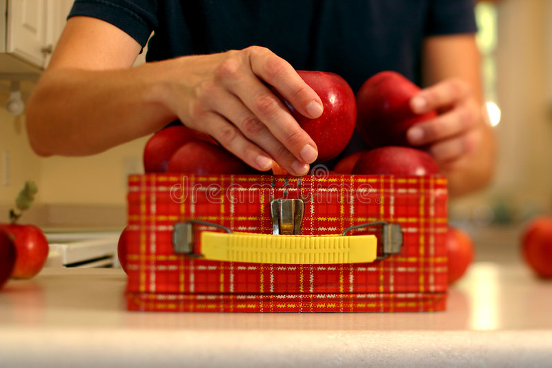 υγιής συσκευασία μεσημεριανού γεύματος στοκ φωτογραφίες με δικαίωμα ελεύθερης χρήσης