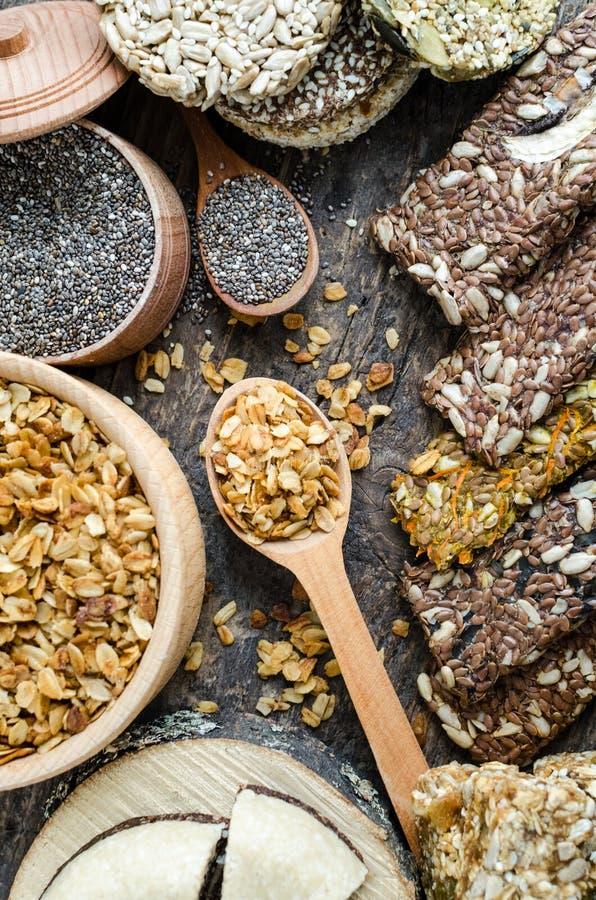 Υγιής χορτοφάγος έννοια τροφίμων στοκ εικόνες