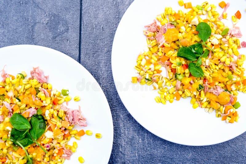 Υγιής Hock ζαμπόν θερινή σαλάτα στοκ φωτογραφίες