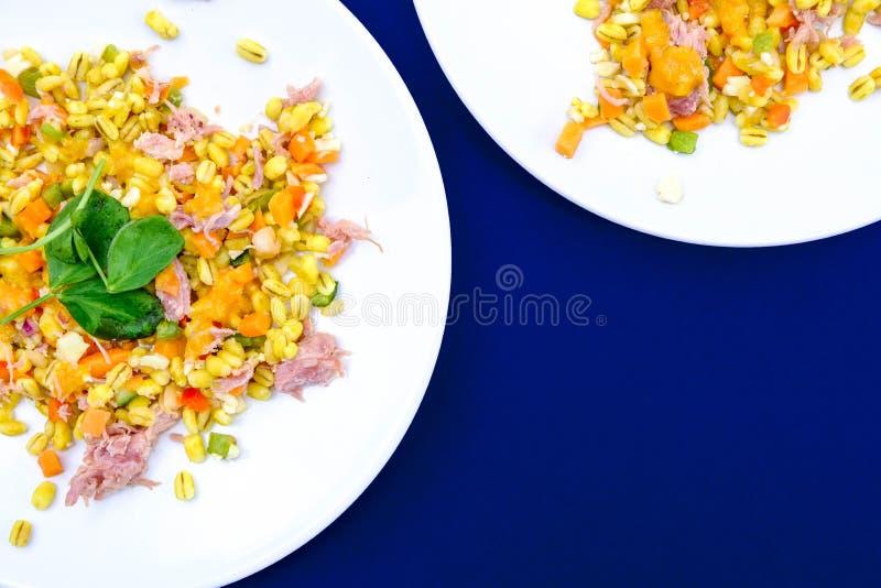 Υγιής Hock ζαμπόν θερινή σαλάτα στοκ εικόνες