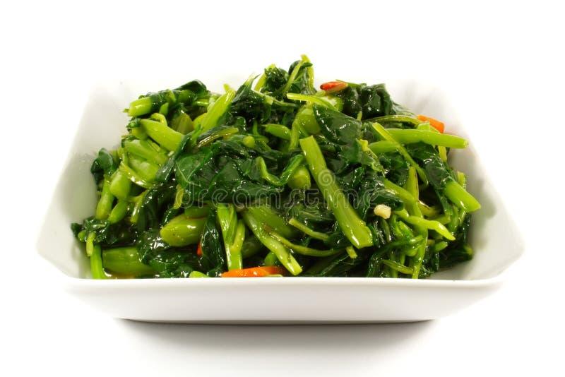 υγιή βρασμένα στον ατμό λαχανικά πρασίνων στοκ φωτογραφίες