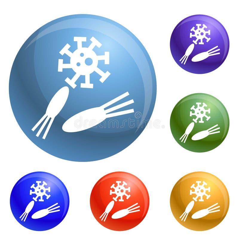 Υγιή εικονίδια φατνίων καθορισμένα διανυσματικά απεικόνιση αποθεμάτων