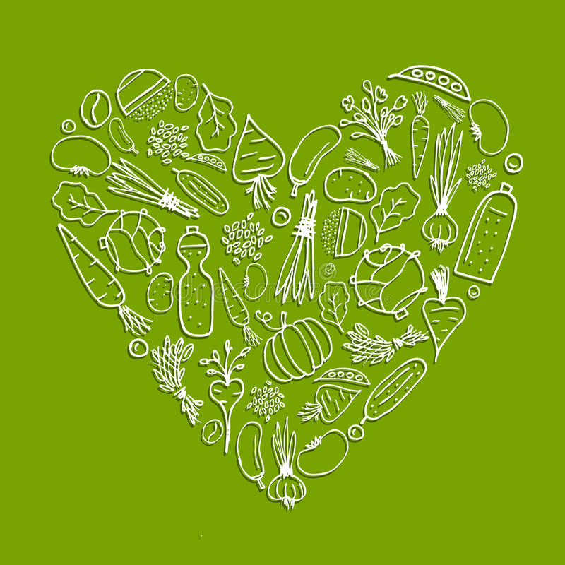 υγιή λαχανικά μορφής ζωής &kap απεικόνιση αποθεμάτων