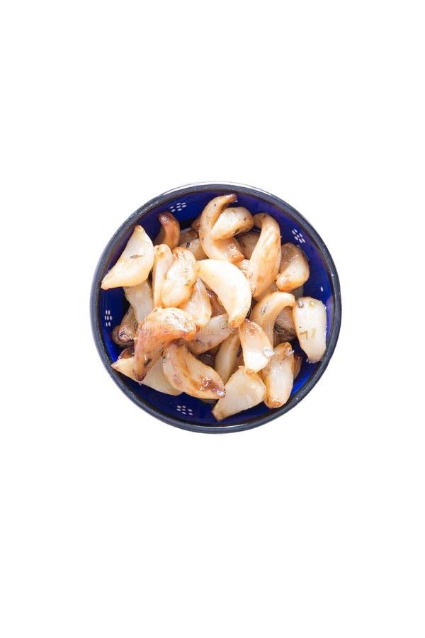 Υγιή μαριναρισμένα ψημένα φούρνος γαρίφαλα σκόρδου στοκ εικόνες