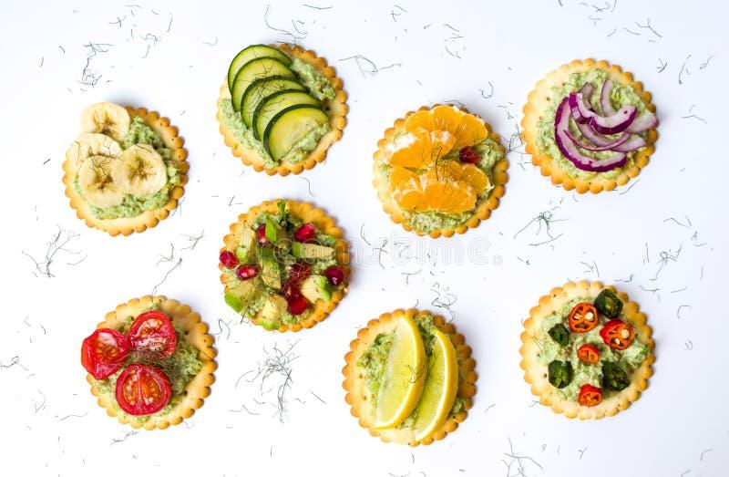 Υγιή σάντουιτς με τα φρούτα και λαχανικά στοκ φωτογραφία με δικαίωμα ελεύθερης χρήσης