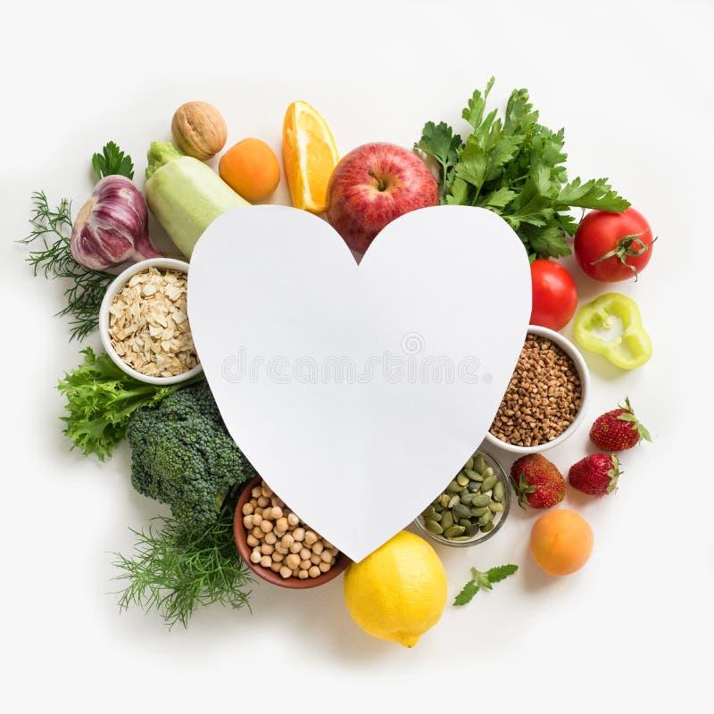 Υγιή τρόφιμα για την καρδιά στοκ εικόνες
