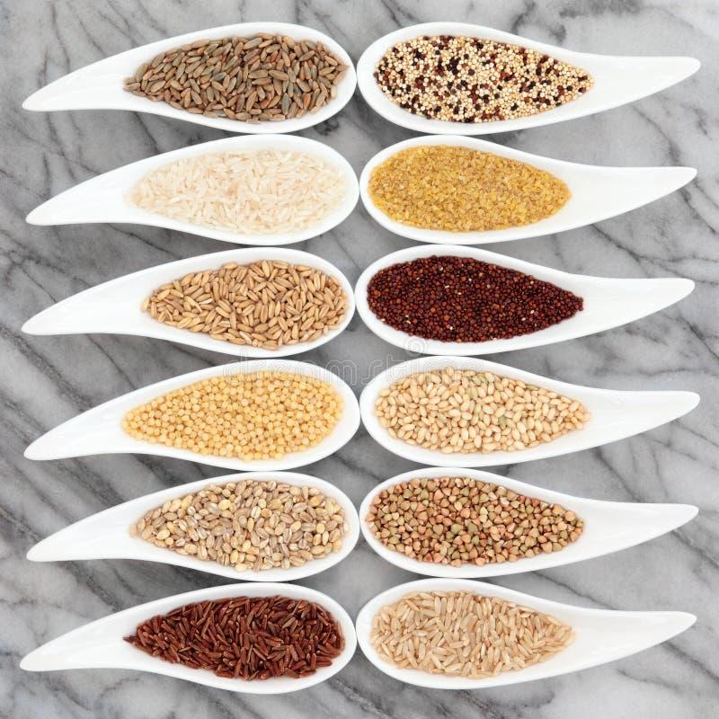 Υγιή τρόφιμα σιταριού στοκ εικόνες