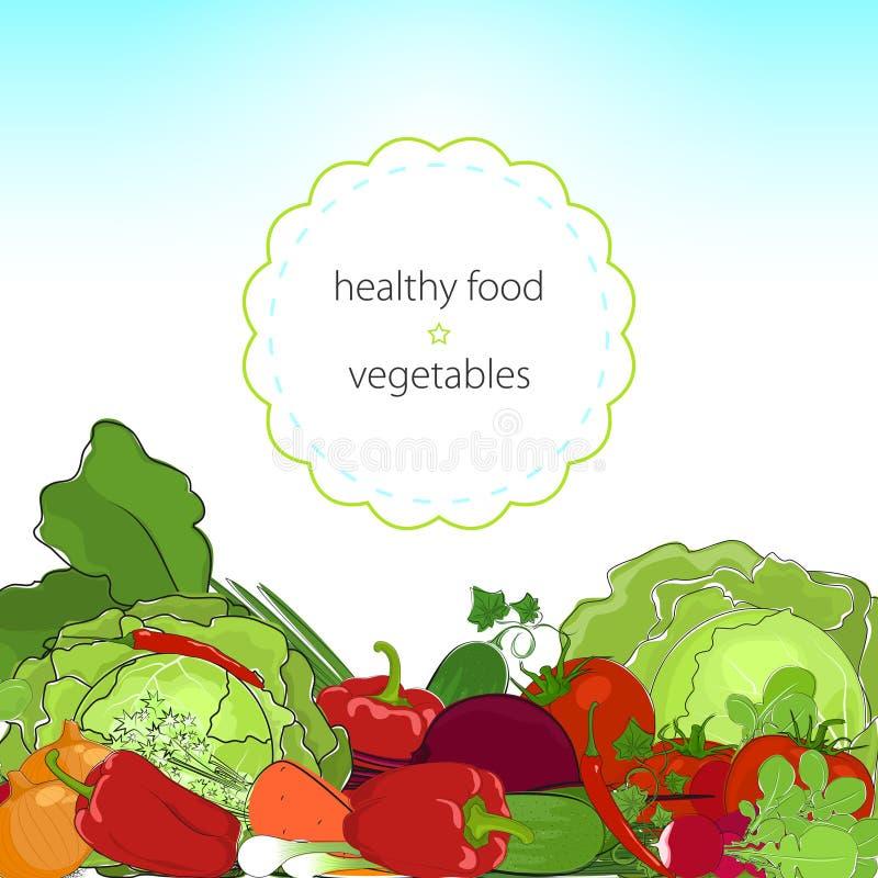 Υγιή τρόφιμα, φρέσκα ακατέργαστα λαχανικά ελεύθερη απεικόνιση δικαιώματος