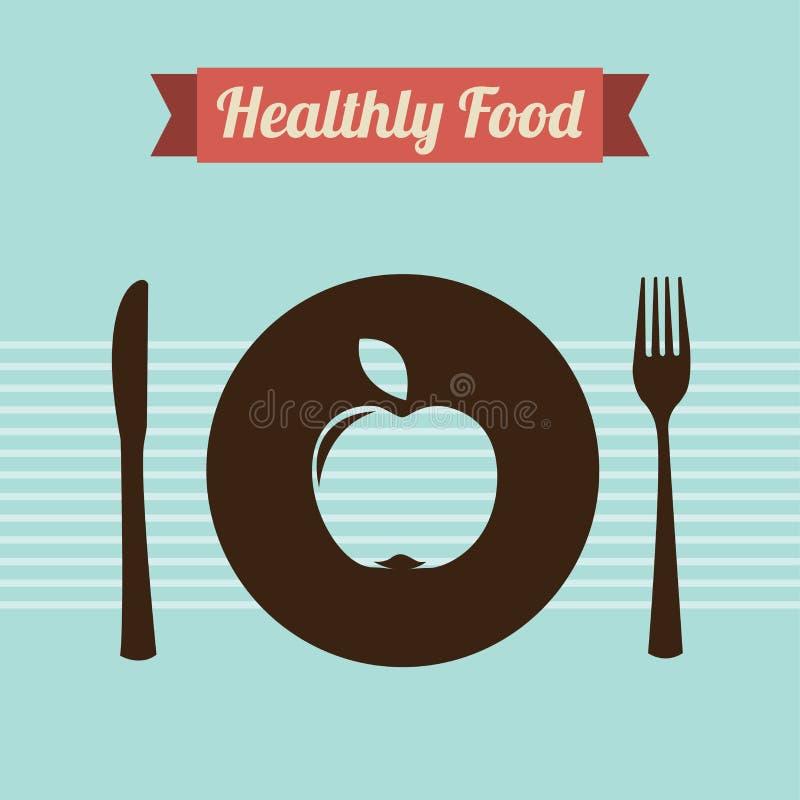 Υγιή τρόφιμα ελεύθερη απεικόνιση δικαιώματος
