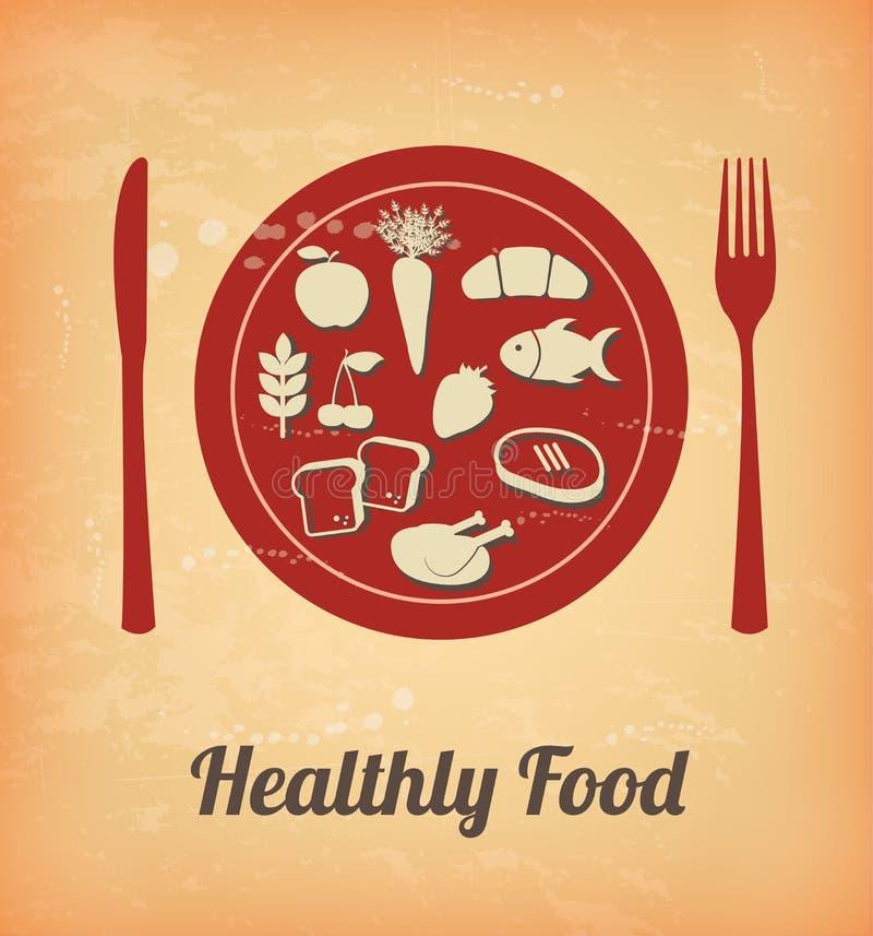 Υγιή τρόφιμα διανυσματική απεικόνιση