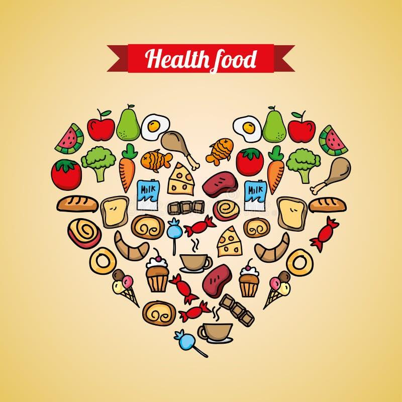 Υγιή τρόφιμα απεικόνιση αποθεμάτων