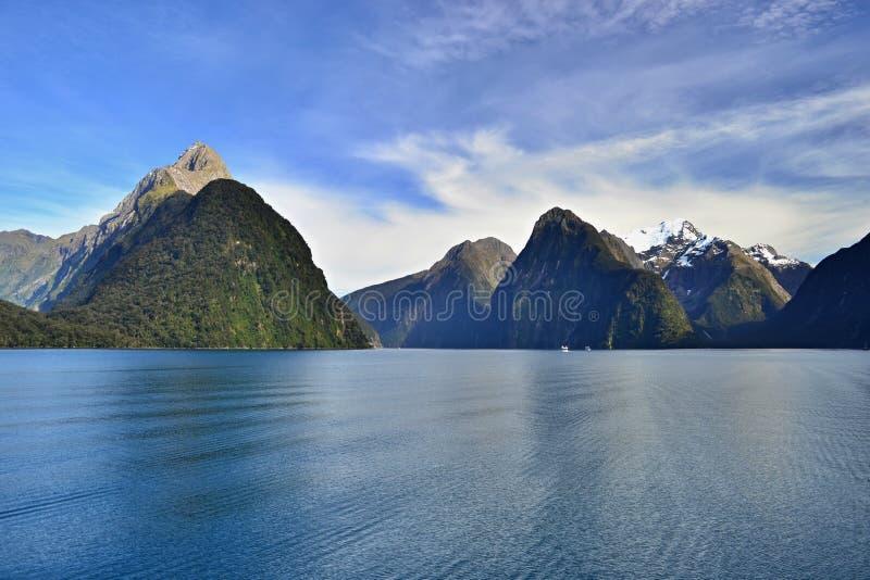 Υγιή φιορδ Milford, ομορφιά της Νέας Ζηλανδίας στοκ εικόνες