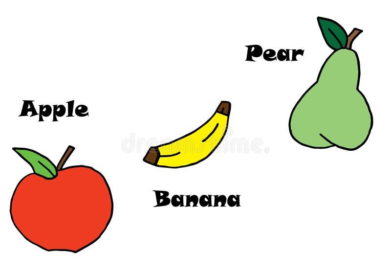 Υγιή φρούτα τέχνης στοκ εικόνα