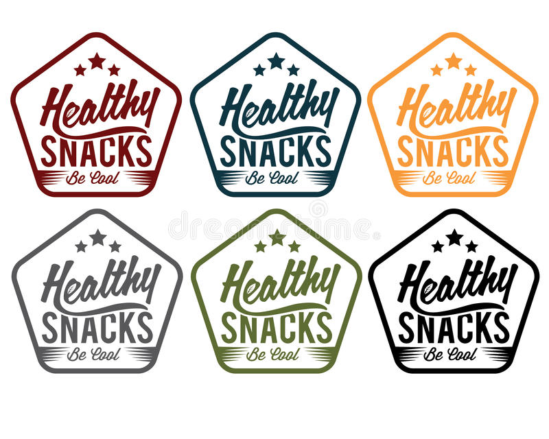 υγιή snaks εμβλημάτων απεικόνιση αποθεμάτων
