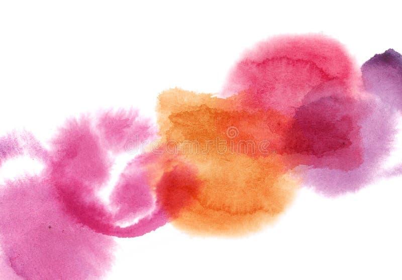 Υγρά ζωηρόχρωμα στοιχεία illustartion σημείων watercolor grung με το διάστημα αντιγράφων διανυσματική απεικόνιση