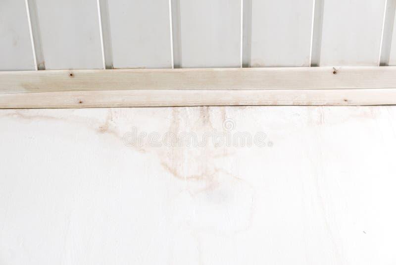 Υγρός λεκές στον άσπρο τοίχο στοκ εικόνες με δικαίωμα ελεύθερης χρήσης