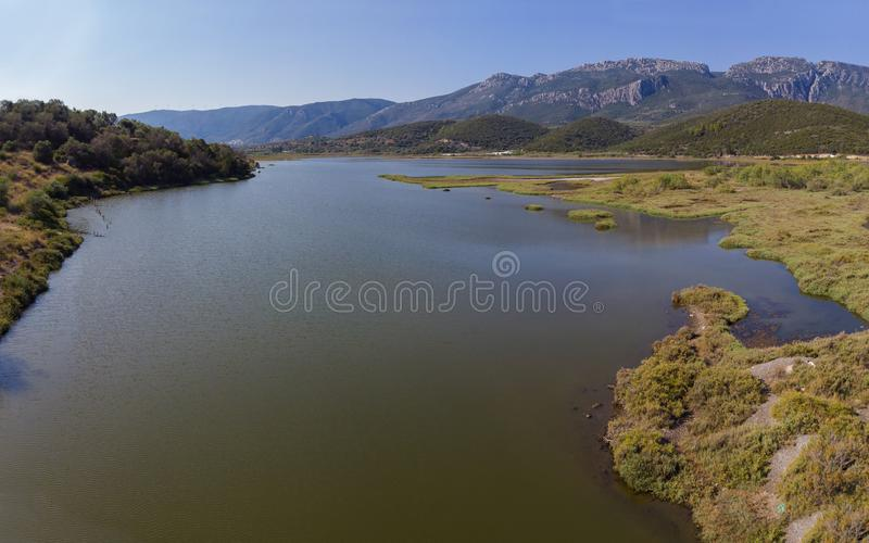 Υγρότοπος άνωθεν, Ελλάδα στοκ φωτογραφία