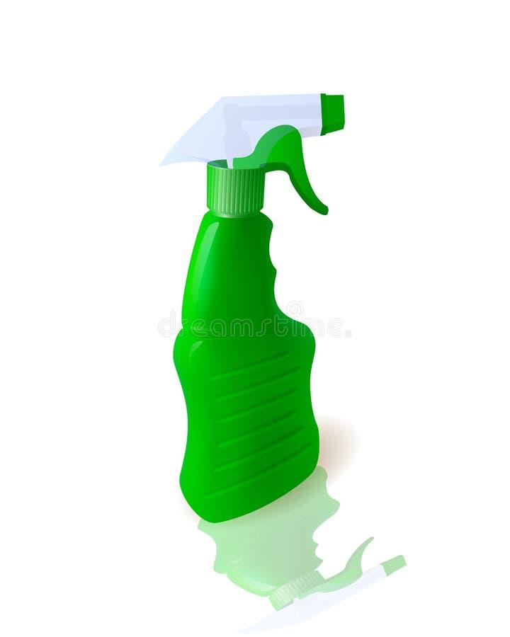 Υγρό απορρυπαντικό στο μπουκάλι ελεύθερη απεικόνιση δικαιώματος