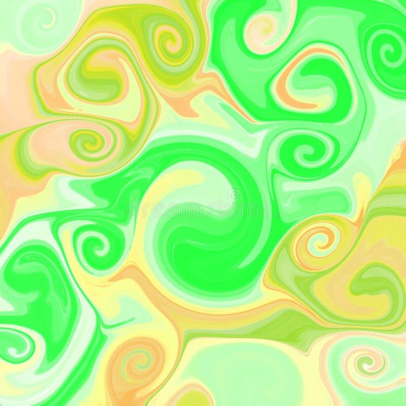 υγρό αφηρημένο υπόβαθρο με τις ραβδώσεις ελαιογραφίας διανυσματική απεικόνιση