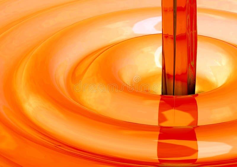 υγρό πορτοκάλι έννοιας στοκ εικόνα με δικαίωμα ελεύθερης χρήσης