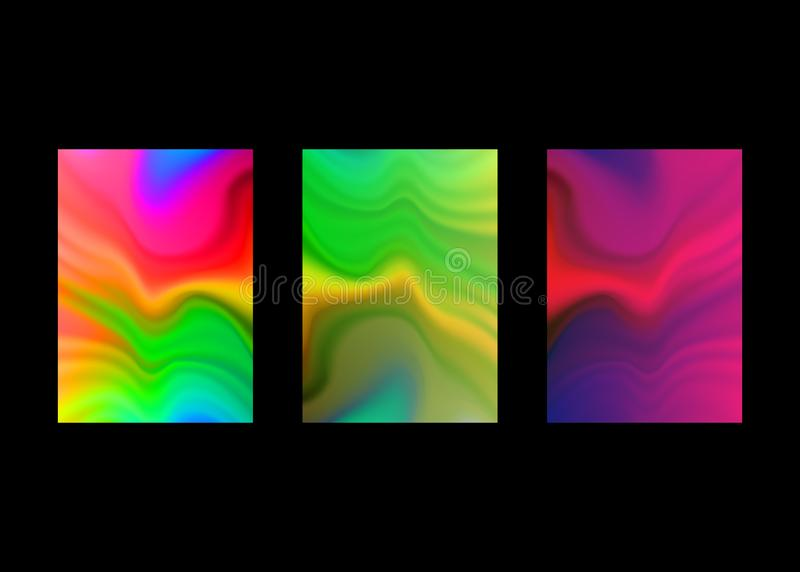 Υγρό σχέδιο υποβάθρου χρώματος Αρχικά πρότυπα παρουσίασης Δημιουργικά ιπτάμενο και φυλλάδιο, παρουσίαση, έμβλημα, καλύψεις φυλλάδ ελεύθερη απεικόνιση δικαιώματος