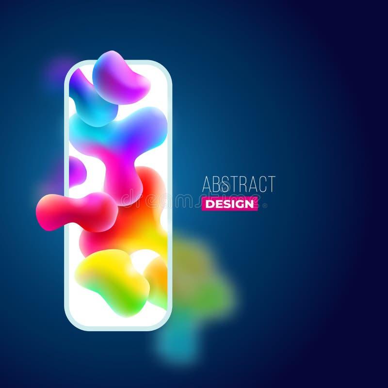 Υγρό σχέδιο υποβάθρου χρώματος Η ρευστή κλίση διαμορφώνει τη σύνθεση Φουτουριστικές αφίσες σχεδίου Eps10 διάνυσμα απεικόνιση αποθεμάτων