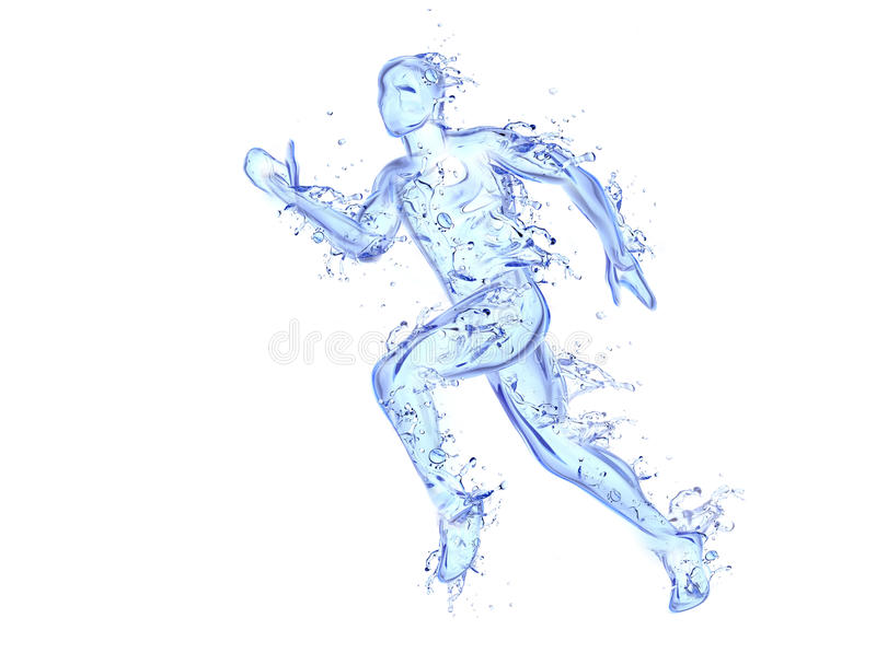 υγρό τρέξιμο ατόμων έργου τέχ διανυσματική απεικόνιση