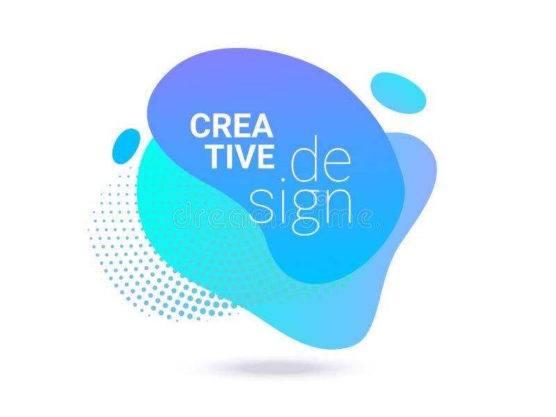 Υγρό χρώματος υπόβαθρο σχεδίων κλίσης αφηρημένο ημίτονο Διανυσματική ρευστή νέου μπλε πορφυρή τέχνη παφλασμών χρωμάτων δημιουργικ ελεύθερη απεικόνιση δικαιώματος