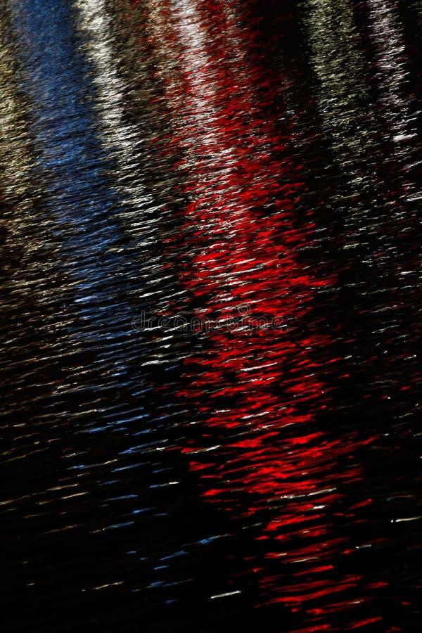 Υδατοχρώματα - κόκκινο, λευκό και μπλε στοκ εικόνες με δικαίωμα ελεύθερης χρήσης