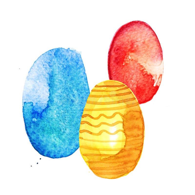 Υδατόχρωμα αυγών εστέρα διανυσματική απεικόνιση