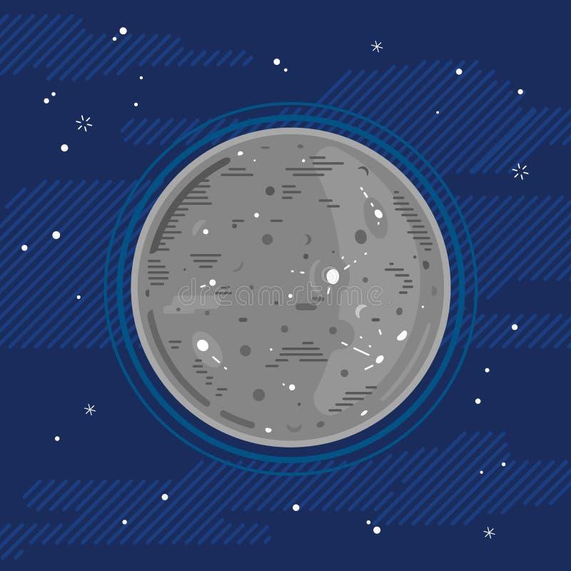 Υδράργυρος πλανητών στο διάστημα στο επίπεδο ύφος απεικόνιση αποθεμάτων