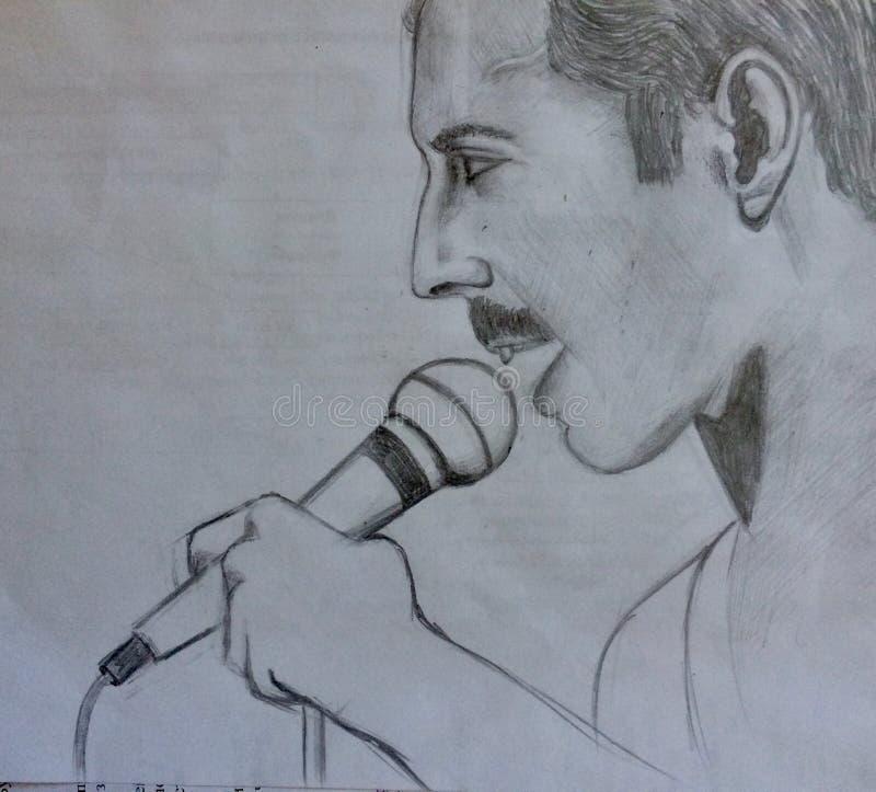 Υδράργυρος του Freddie Το πορτρέτο μου Μύθος στοκ εικόνα