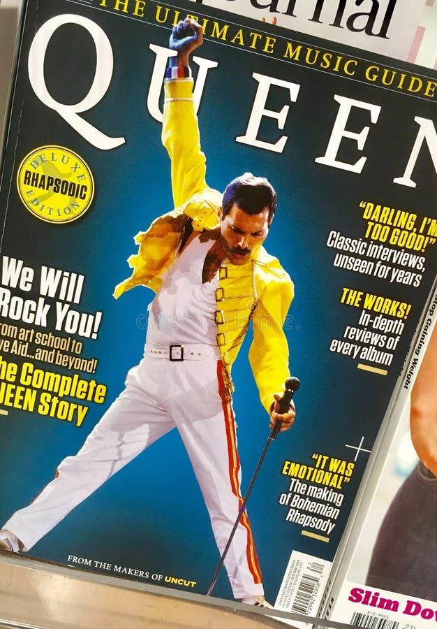 Υδράργυρος του Freddy σε μια κάλυψη του περιοδικού στοκ εικόνα με δικαίωμα ελεύθερης χρήσης