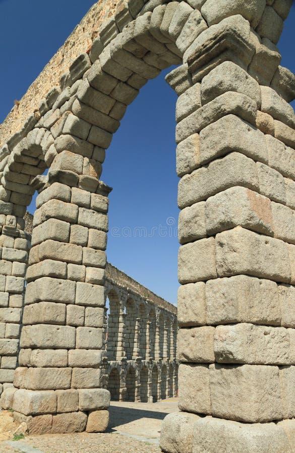 υδραγωγείο ρωμαϊκό segovia στοκ εικόνα
